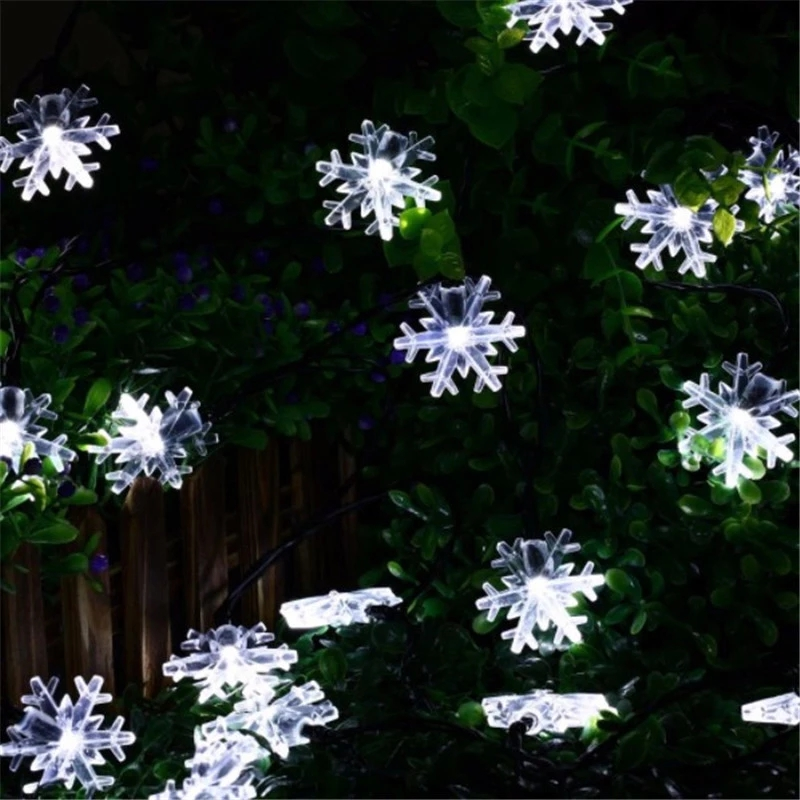 Image 5 - LED Snowflake Garland Light 2m / 5m / 10m LED Fairy Light Christmas Wedding Decoration Lighting Battery Flash Control