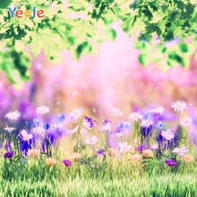 Yeele Landscape Photocall Lawn Flower Painting Ins Photography Backdrops Personalized Photographic Backgrounds For Photo Studio