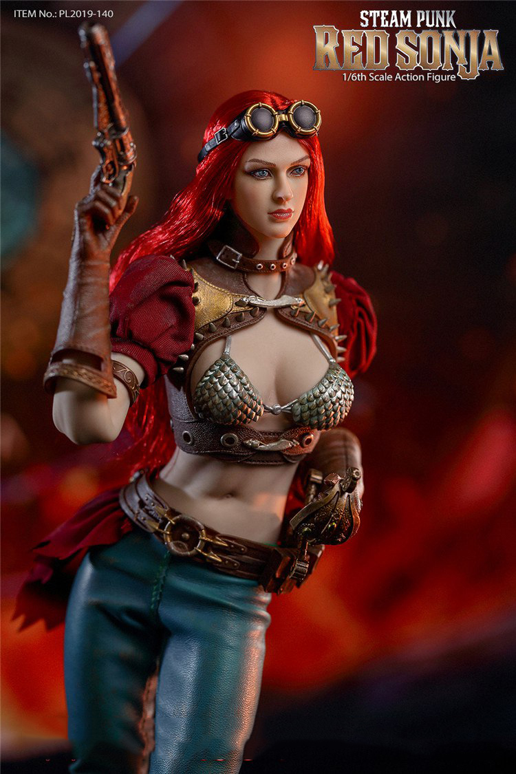 "Tbleague PL2019-140 1//6th Steam Punk Red Sonja 12/"" Figura De Ação Pistola Coldre"