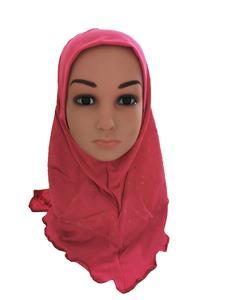 Image 3 - Arabischen Kinder Mädchen Hijab Caps Muslimischen Kopf Abdeckung Schals Kopftuch Islamischen Hut Volle Abdeckung Gebet Hut Haar Verlust Headwear Hüte ramadan