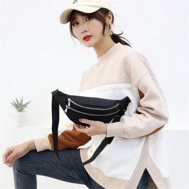 2020 New Waist Bags Waterproof Pack For Women Fashion Bum Bag Ladies Travel Crossbody Chest Bags Unisex Hip Bag Belt Purse 2