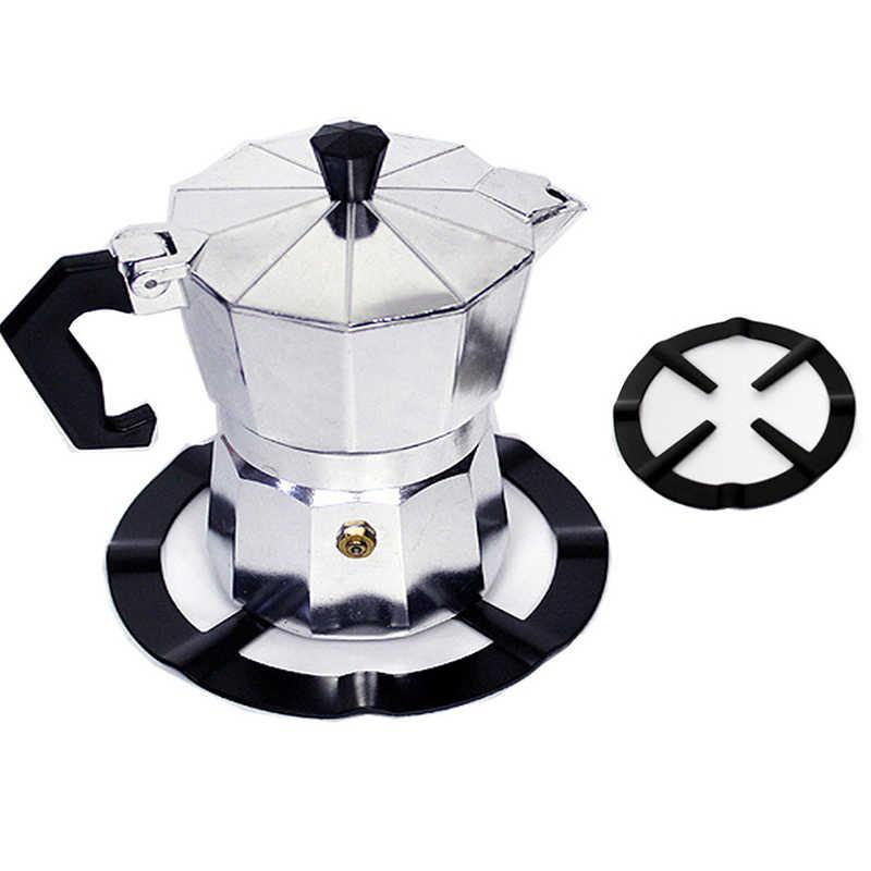 1pcs באיכות גבוהה שחור ברזל גז כיריים סיר צלחת קפה סיר Stand מפחית טבעת מחזיק מוקה סיר מדף