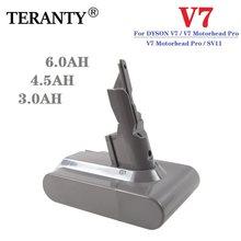 Teranty 21.6v 3. 0ah/4. 5ah/6.0ah li-lon bateria recarregável para dyson v7 fofo v7 animal v7 pro aspirador de pó substituição l70