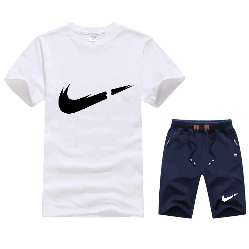Summer Hot Sale Men 39 s Sets T Shirts Shorts Two Pieces Sets Casual Tracksuit Male 2019 New Casual Tshirt Gyms Fitness Shorts men in Men 39 s Sets from Men 39 s Clothing