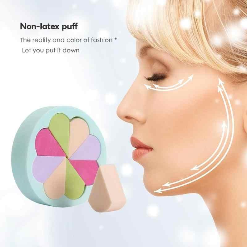 Six prisme doux cosmétique bouffée maquillage éponge mélange visage liquide fond de teint crème maquillage cosmétique poudre bouffée pour voyager