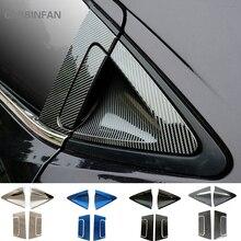 الفولاذ المقاوم للصدأ مقبض الباب الخلفي للسيارات إكسسوارات خارجية لأبواب السيارات من ألياف الكربون مقبض الباب الخارجي إكسسوارات خارجية لأبواب السيارات لسيارات هوندا HR V HRV 2016 2018 C1019