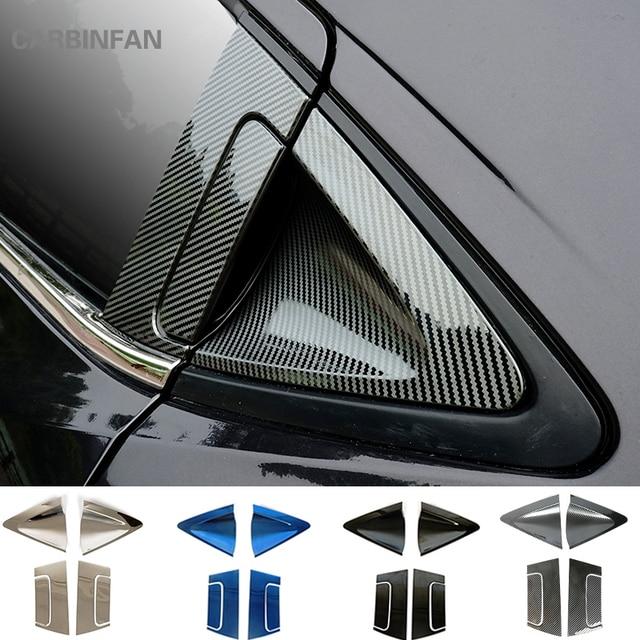 Paslanmaz araba arka kapı kolu kase kapağı karbon Fiber dış kapı kolu kase kapağı Trim Honda HR V HRV 2016 2018 c1019