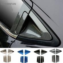 Stainless Car Rear Door Handle Bowl Cover Carbon Fiber Exterior Handle Door Bowl Cover Trim for Honda HR V HRV 2016 2018  C1019