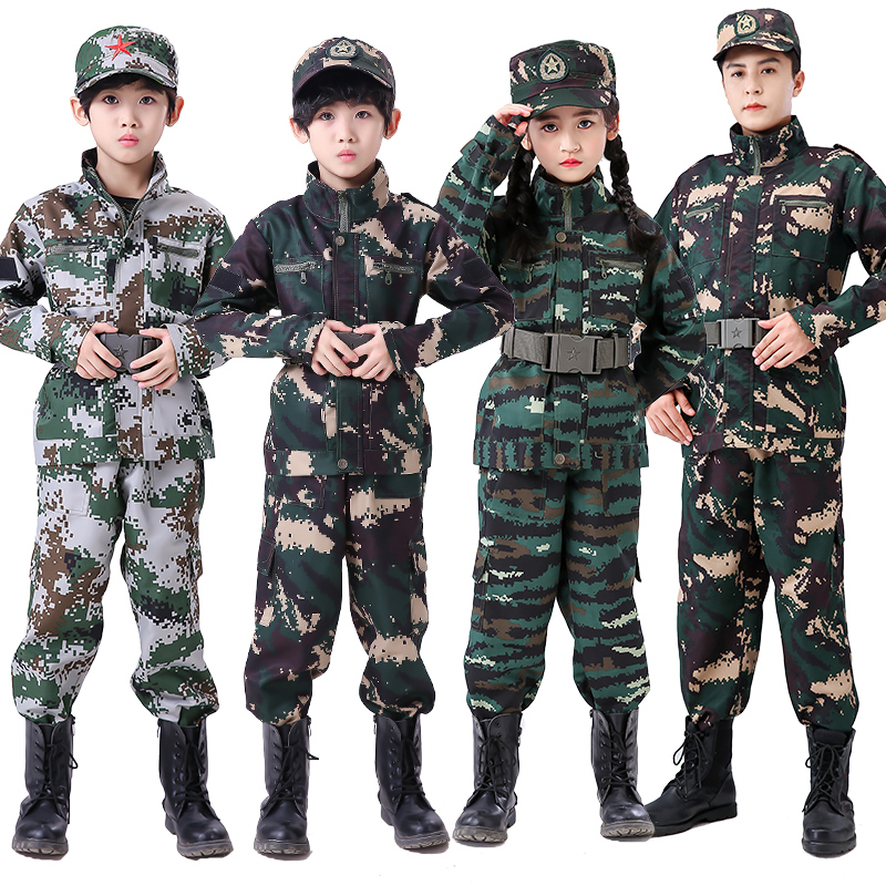 3pcs New Halloween Fancy Kids Army Soldier Cosplay Costumes Military Uniform Boys Camouflage Combat Training Jackets 110-180cm