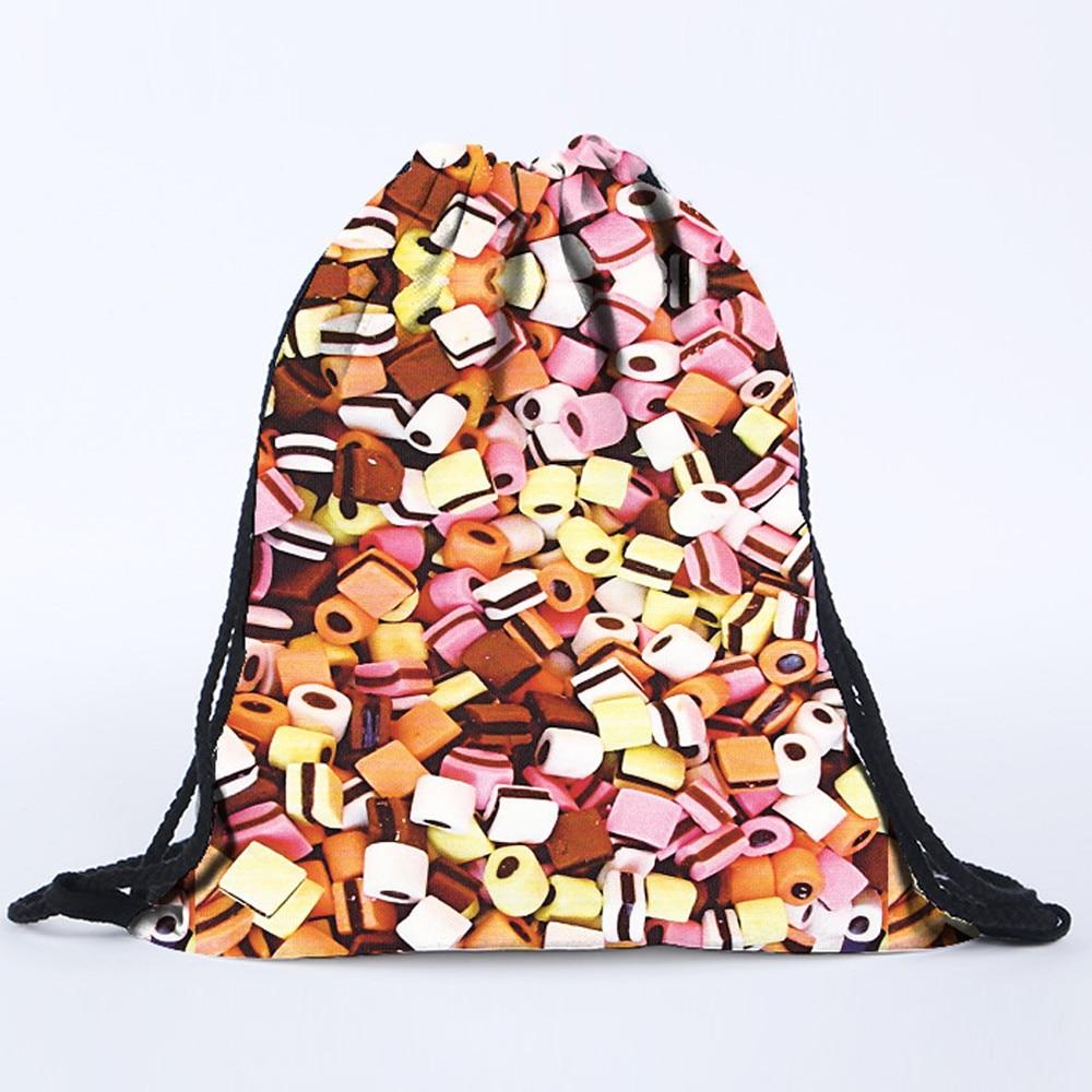 Fashion Drawstring Backpack 2019 Unisex Backpacks Unisex Backpacks 3D Printing Bags Package Bag High Quality