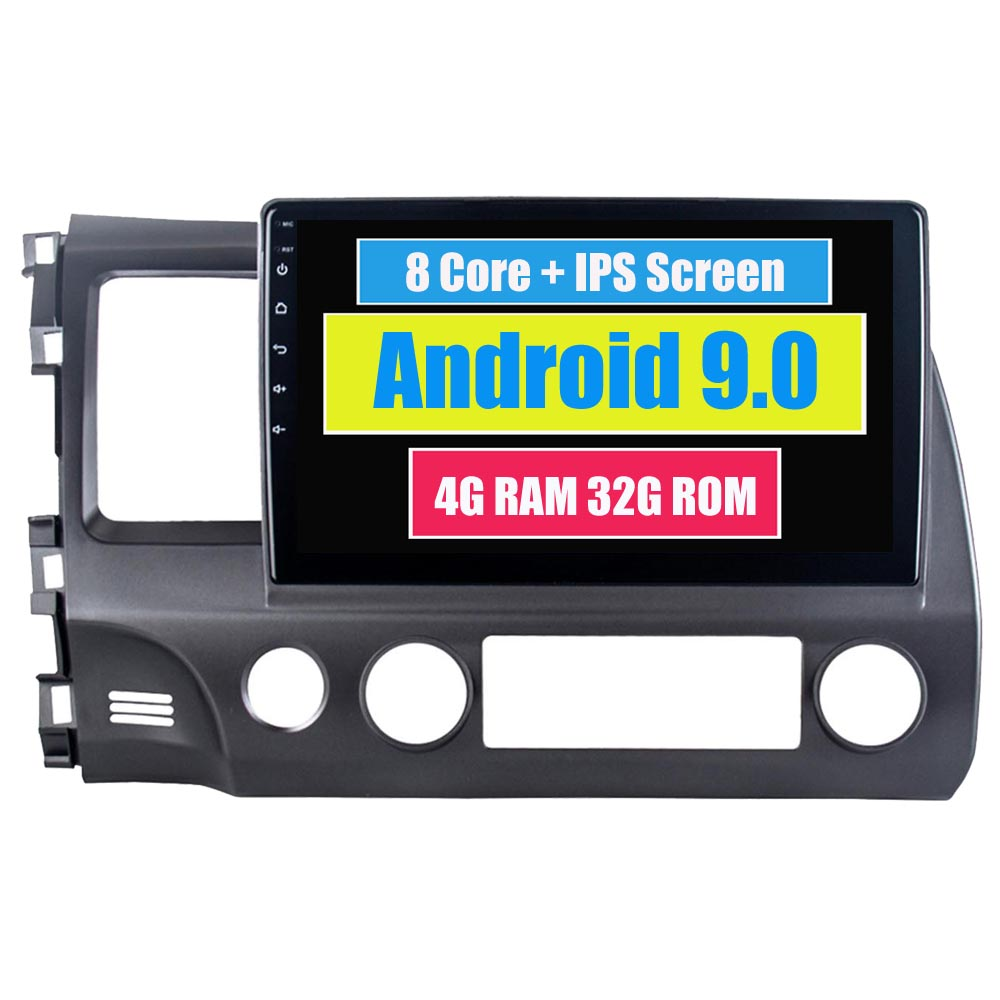 Android 9.0 For <font><b>Honda</b></font> For Civic 2006 - 2011 Automotivo Car Radio Stereo Bluetooth GPS Sat Navi Navigation Central <font><b>Multimidia</b></font> image