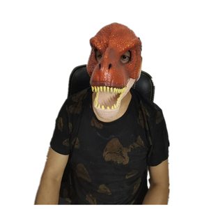Image 3 - Dinosaur World  Mask with Opening Jaw Tyrannosaurus Rex Halloween Cosplay Costume Kids Party Carnival Props Full Head Helmet