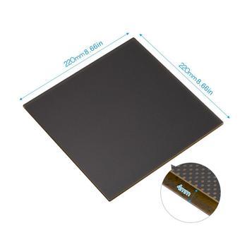 240x220x5.5mm Ultrabase platforma z podgrzewanym łóżkiem do drukarki 3D specjalne szklane mikroporowate powłoki części