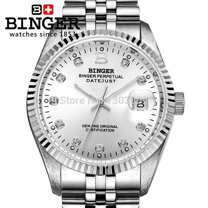 Switzerland BINGER Watch Men Automatic Mechanical Mens Watches Luxury Brand Wristwatch Waterproof Reloj Hombre Couple Gift Watch