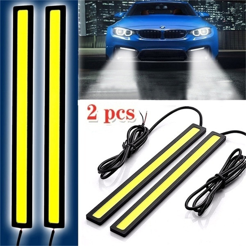 2Pcs 17CM Universal COB LED Strip Car Running Fog Lamp Driving Strip Light Flexible Led Strip/waterproof 10-16V