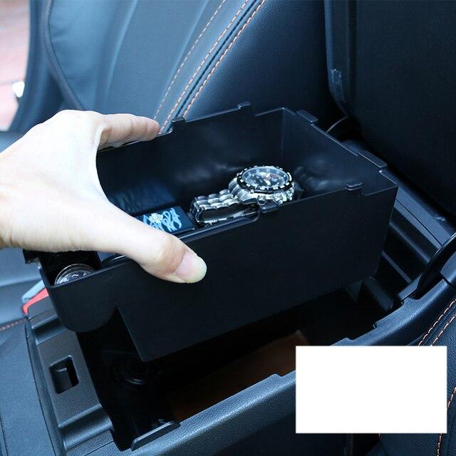 lsrtw2017 black abs car armrest storage plate for subaru forester xv outback 2013 2014 2015 2016 2017 2018 2019 LEGACY 3