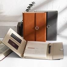 Minkys Бизнес искусственная кожа a5 свободный лист блокнот журналы