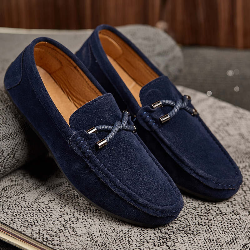 NEW Men's Loafers Comfortable Flat Casual Shoes Men Breathable Slip-On Soft Leather Driving Shoes Moccasins 2019 New