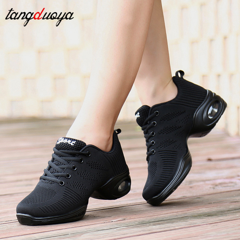 modern square dance shoes for women training gym shoes ballroom dancing shoes for girls jazz dance sneakers 41