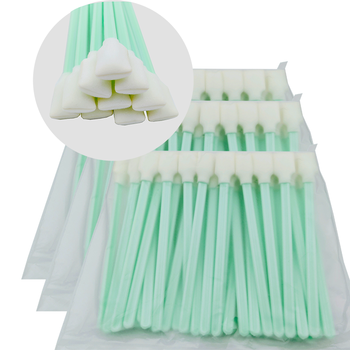 Solvent Foam Tipped Cleaning Swabs stick Tool Printhead Printer Cleaning Swab Sticks for Epson Roland Mimaki Mutoh 50pcs/150pcs new ic driver spt510 35pl printhead for chinese large format solvent printer
