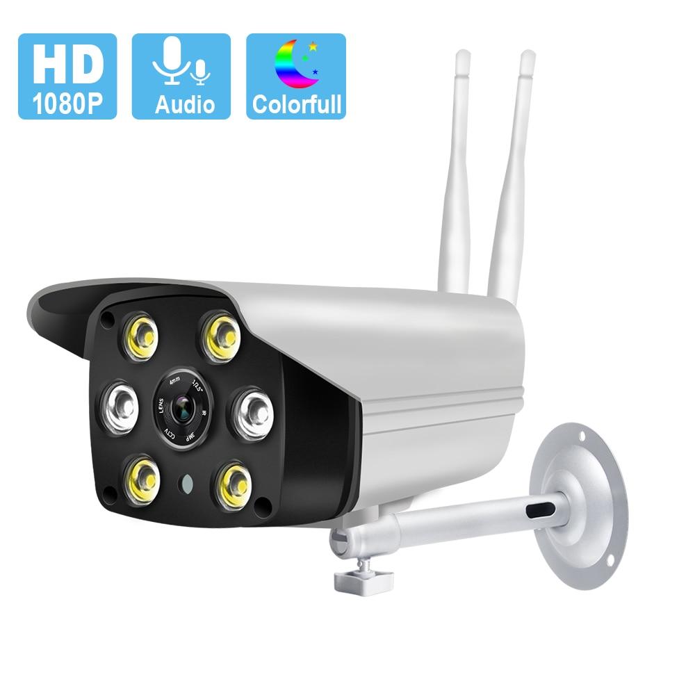 1080P Wifi IP Camera Outdoor Waterproof Wireless Full Color Night Version Alarm Recording Smart Light Bullet Camera Surveillance