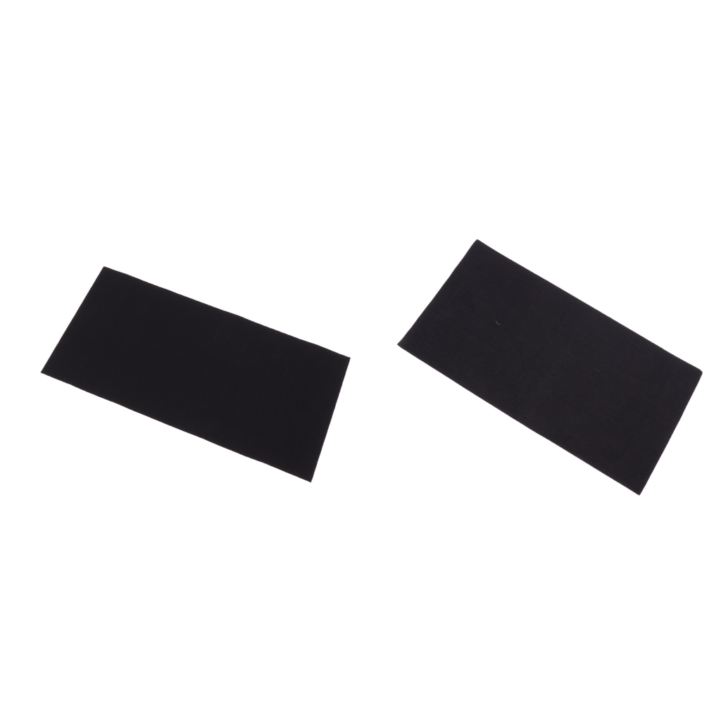 2 Pieces Self-adhesive Repair Patches Waterproof Nylon Sticker For Down Jacket Tent Sleeping Bag Inflatable Items Black