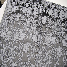 Классический шелк выгорает опал фарбрик шелковая ткань с цветком в простой черный для элегантной женской одежды