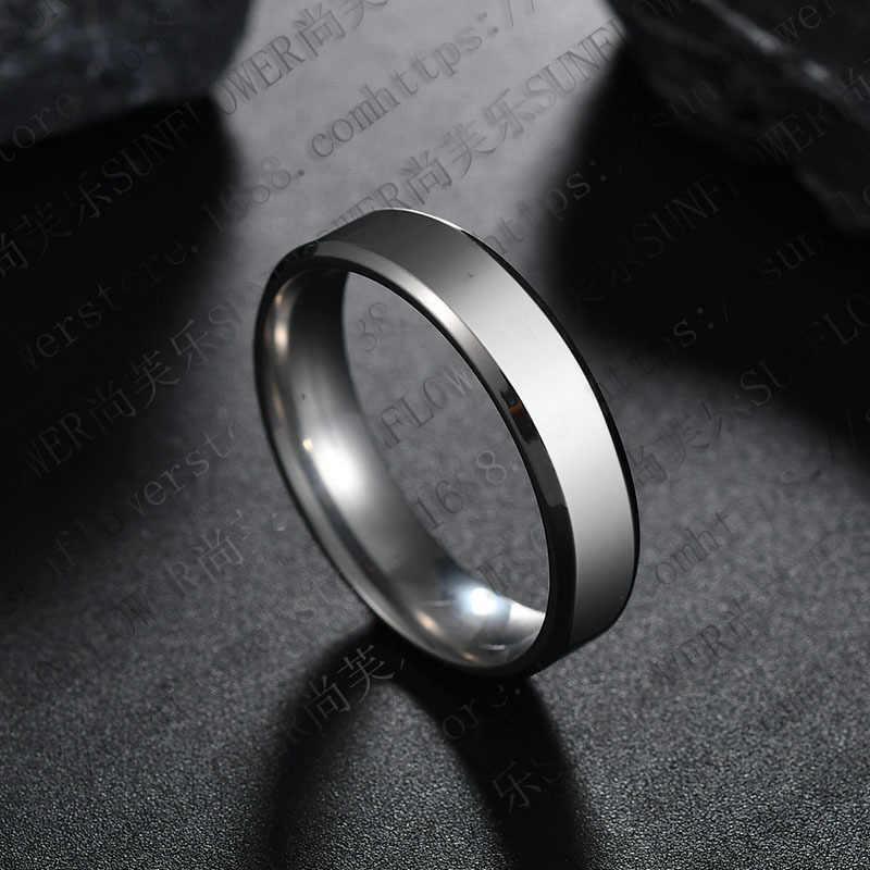 Nowy tytanu stali czarne pierścienie zestaw dla człowieka posrebrzany pierścionek dla kobiet złoty kolor biżuteria ślubna dla kobiet pierścień