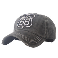 2021vintage lavado algodão rota 66 bordado boné de beisebol chapéu para homens ao ar livre esportes bonés boa qualidade hip hop cabido boné