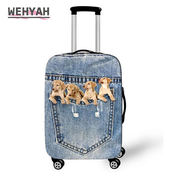 """Wehyah Spandex Luggage Cover Suitcase Covers Travel Accessories Cute Printed Dog Cat Dust Cover 18""""-32"""" Protective Case ZY131"""