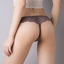 Sexy Women's Lace Panties Briefs Underwear Lingerie Knickers Thongs G-String Floral Sheer Low Waist Underwear Ice Silk Briefs(China)