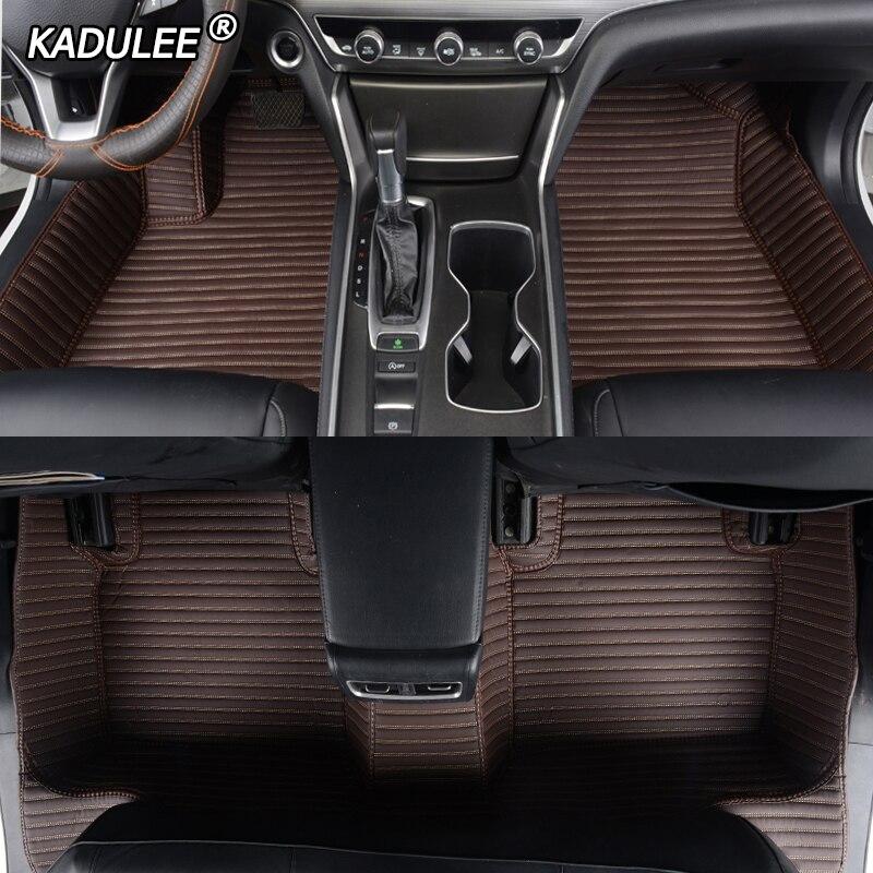 KADULEE Custom car floor mat For Citroen DS DS3 DS4 DS5 DS6 DS7 DS4S DS5LS For Dodge Journey auto floor mats