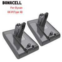 Bonacell 22.2V 4000mAh DC31 ( Only Fit Type B ) Battery for Dyson DC31 DC35 DC44 DC45 Series Cordless Vacuum Cleaner Li ion L30