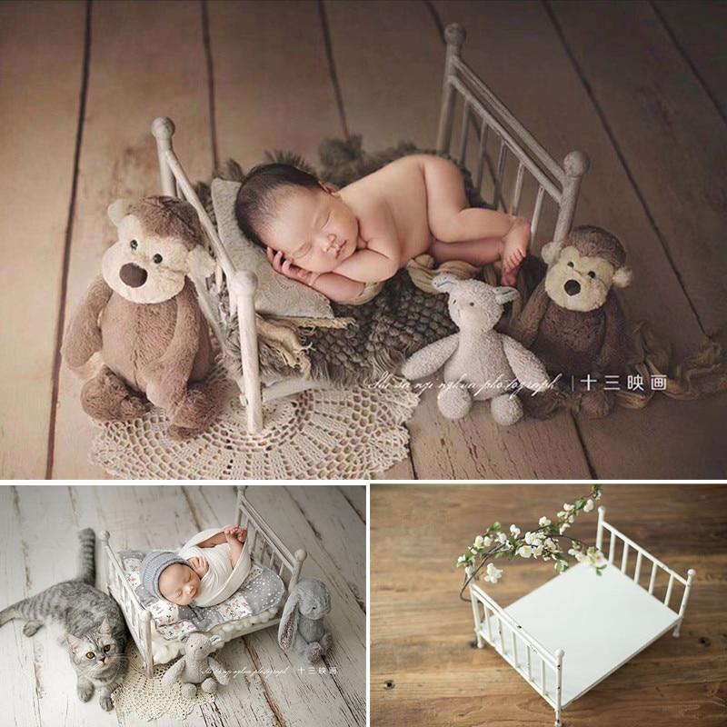 Newborn Baby Photography Props Removable Retro Iron Crib Studio Photo Vebe Posing Bed Sofa Fotografie Newborn Props For Boy Girl