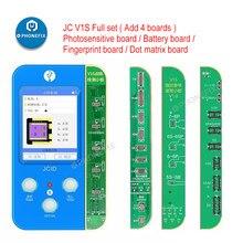 Jc v1s dot matrix para iphone face id não trabalho fix dot matrix cabo dot projetor placa de tela bateria impressão digital programador