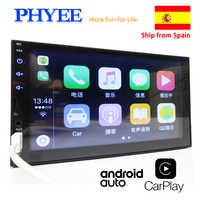 """2 Din Apple Carplay Auto Radio Bluetooth Android Auto 7 """"Touch Screen Video MP5 Lettore USB di TF ISO Stereo sistema di Unità Principale PHYEE X2"""