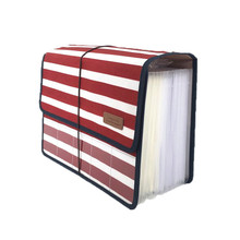 Briefcase File-Folder Expandable Accordion Document 12-Pockets Large-Capacity-File A4