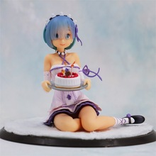 Anime Re Life In A Different World From Zero Remu Cake Ver PVC Action Figure Collectible Model doll toy 12cm 1 4 scale re life in a different world from zero rem ram bunny ver kneeling ver resin naked collection anime figures