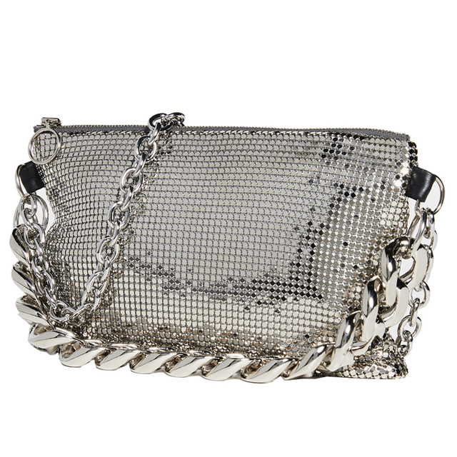 2019 Fashion Sequins Thick Chain Cross-body Bag Female It Bag New Bling Bling Silver Flap Bags Ladies Totes Women Handbags