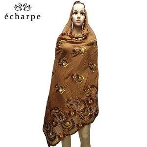 Image 3 - Latest African Women 100% Cotton Scarf Muslim Women Hijab Scarfs Big size Cotton Scarf for Shawls Pray shawls