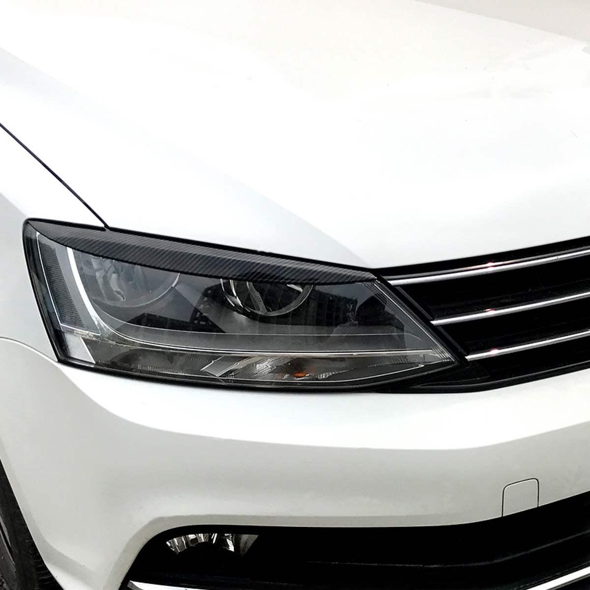 Voiture phares paupières sourcil ABS garniture autocollants couverture pour Volkswagen pour VW pour Jetta MK6 Sagitar NCS 2010-2018 voiture style