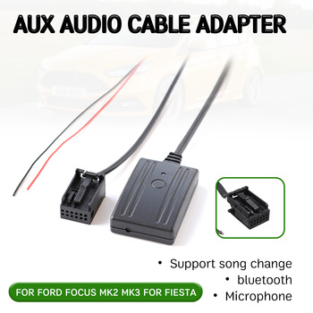 bluetooth Aux Receiver Cable Adapter for Ford for Focus Mk2 MK3 for Fiesta Hands-free Hifi aux module Head Unit Interface bluetooth hands free adaptor car integrated usb aux jack interface for volkswagen touran 2003 2011