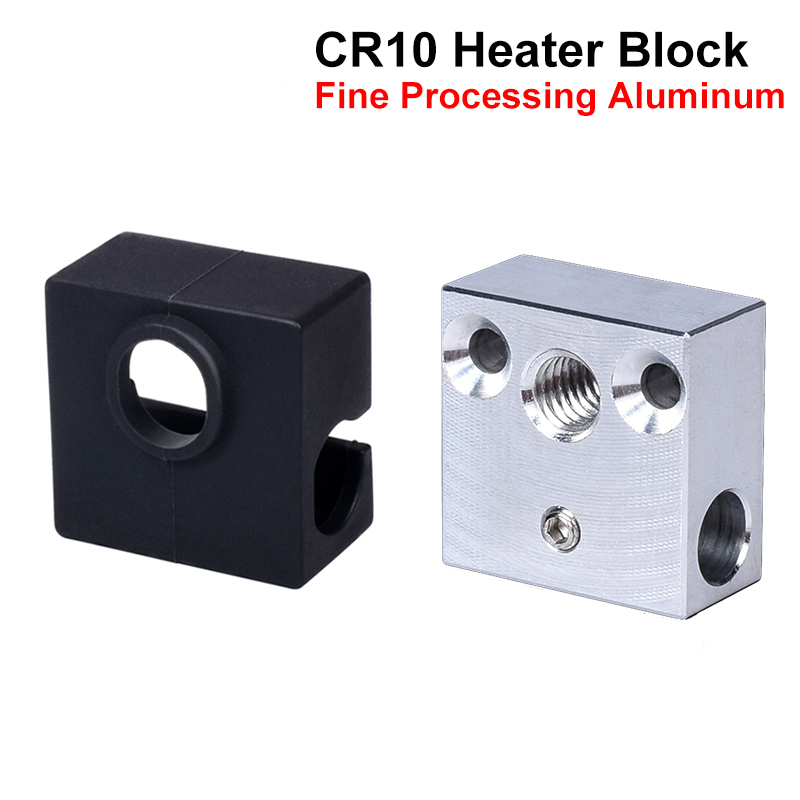 High Quality CR10 Heater Block MK8 Silicone Sock For Micro Swiss Cr10 Hotend Ender 3 Mk7/Mk8/Mk9 J-head Extruder Heat Block