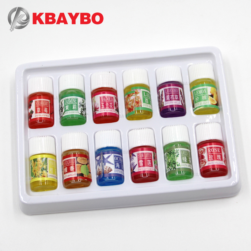 KBAYBO 3ml*12pcs Oil Packet Watersoluble Essential Oils For Aromatherapy Lavender Oil Diffuser With 12Kinds Of Fragrance