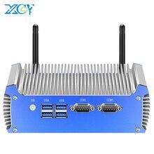 Fanless Industrial Mini PC Intel Core i7 5500U DDR3L RAM mSATA SSD RS232 DB9 Dual NIC HDMI VGA 4xUSB WiFi Windows Liunx