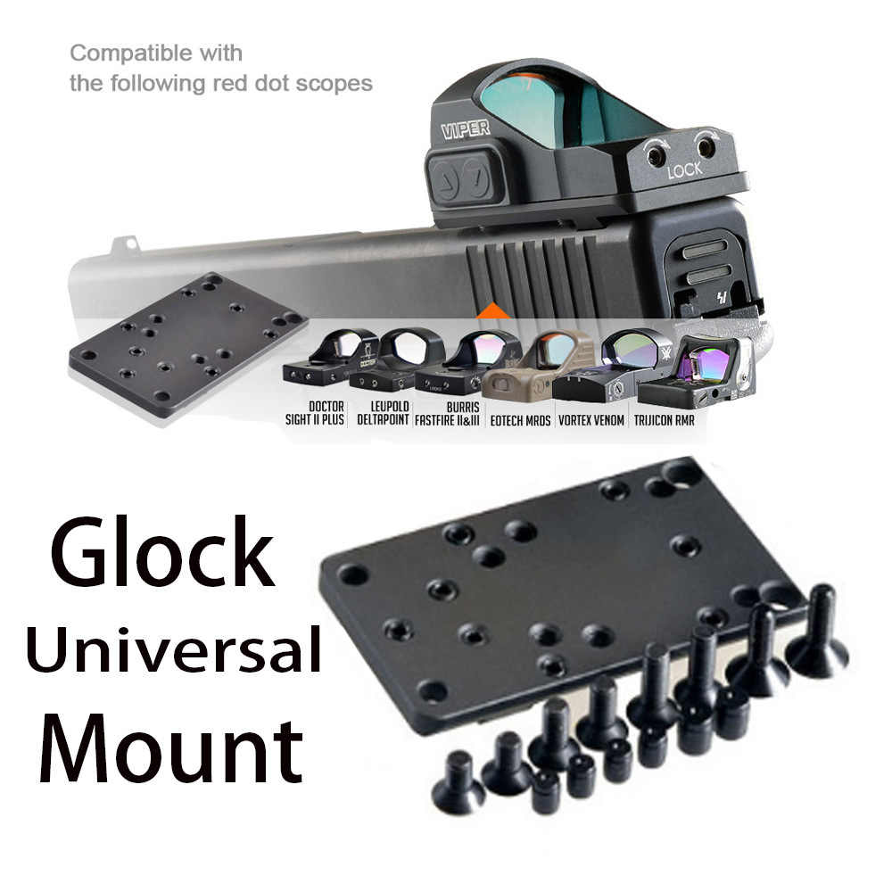 Glock Red Dot Sight Pistol Accessoires Mount Plaat Basis Voor Vortex Venom En Viper Rmr Mros Rifle Scope