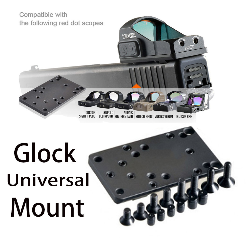 Glock Red Dot Sight Pistol Accessories Mount Plate Base For Vortex Venom And Viper RMR MROS Rifle Scope