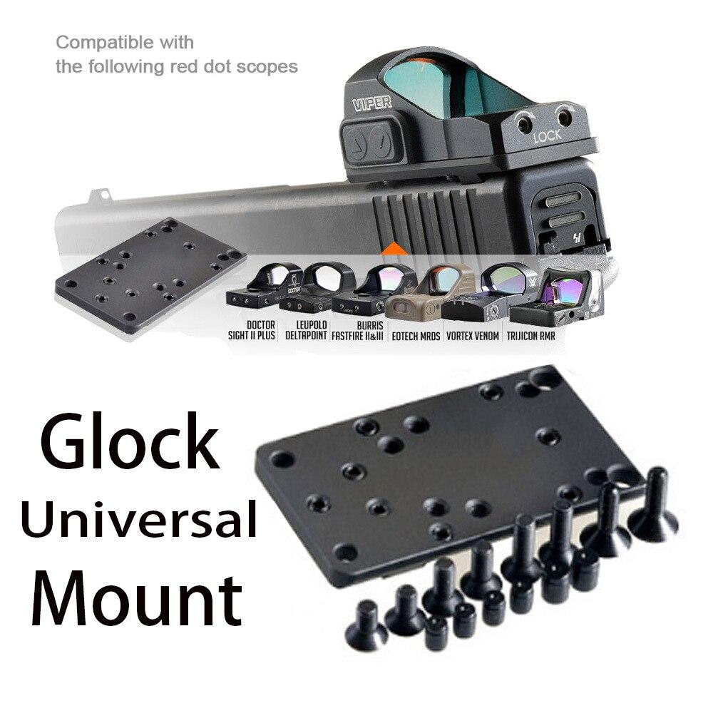 Glock Red Dot Sight Pistol Accessories Mount Plate Base for Vortex Venom and Viper RMR MROS Rifle Scope
