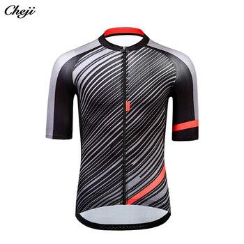 CHE JI  Pro Team Cycling Jersey Dry Quick Shirt Bike Clothing Short Sleeve Top