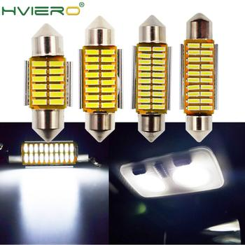 цена на Auto Led White Festoon Dome C5W C10W Bulb 31mm 36mm 39mm 42mm LED 4014 SMD Canbus Error Free Auto Interior Doom Lamp Auto Light
